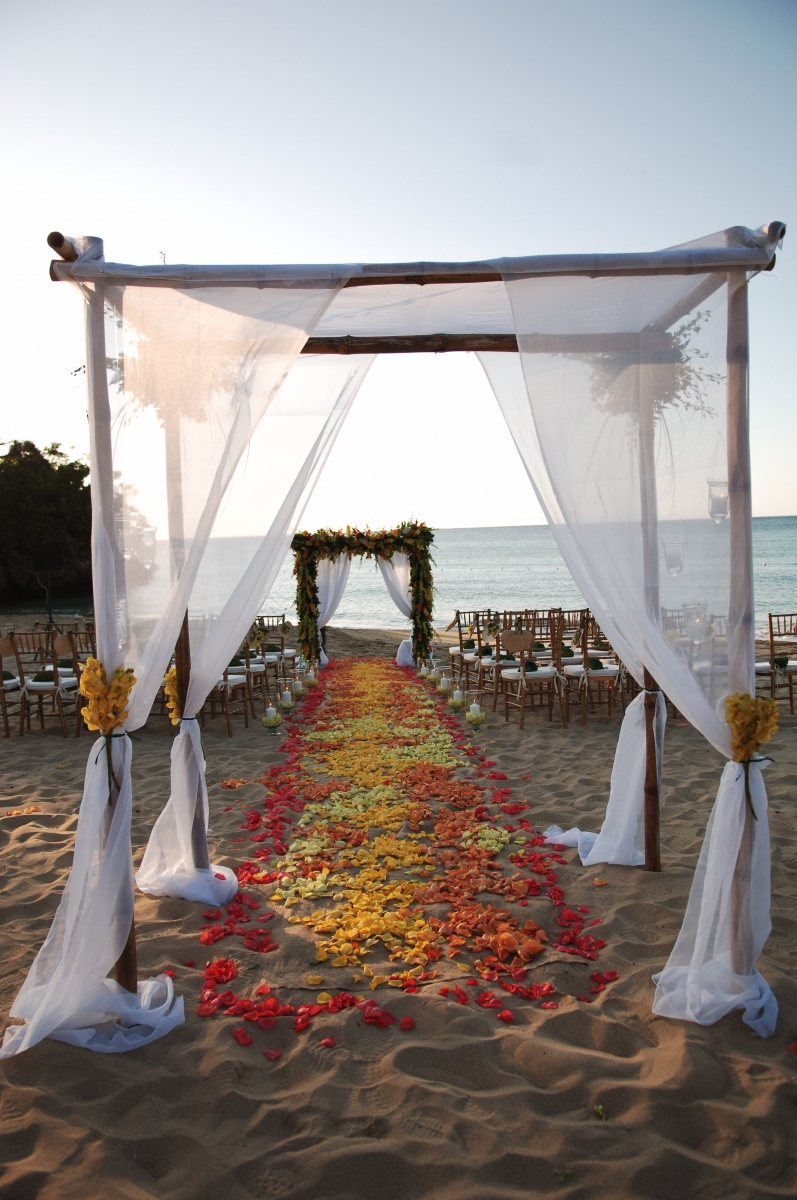 Jamaica inn Beach Wedding